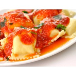 Ravioles con salsa