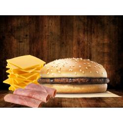 Hamburguesa jamón y queso...