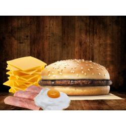 Hamburguesa con Jamón,...